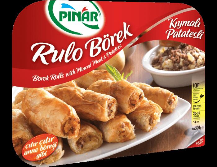 Pınar Kıymalı - Patatesli Rulo Börek